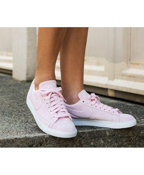 e4e7744cb8d Nike Blazer Femme Rose Blanc chaussures