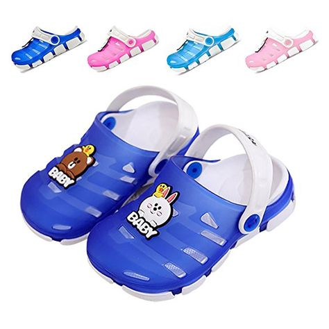 Baby Kids Boys Toddler Slip On Clogs Sandals Shoes Beach Summer Water Slippers