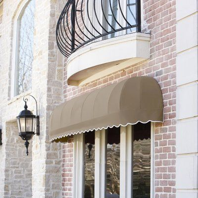 Awntech Chicago 3 Ft W X 2 Ft D Fabric Standard Window Awning Window Awnings Awning Over Door Fabric Awning