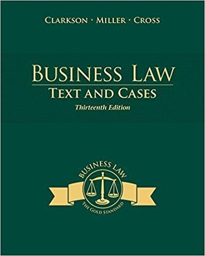 Business Law Text And Cases 13th Edition Pdf Version Business Law Law Books Money Book