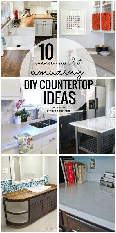 10 Inexpensive But Amazing Diy Countertop Ideas Diy Countertops