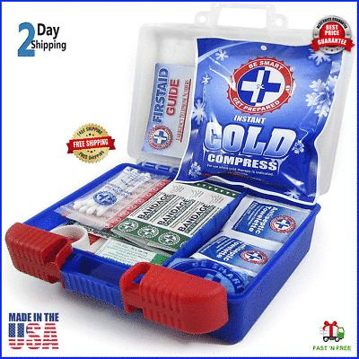 Ad First Aid Kit Medical Car Travel Emergency Medicine Auto Home Outdoor Survival Adventure Medical Kits Medical Kit First Aid