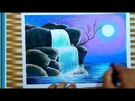 Cara Menggambar Pemandangan Indah Air Terjun 19 Youtube Cara Menggambar Gambar Pemandangan