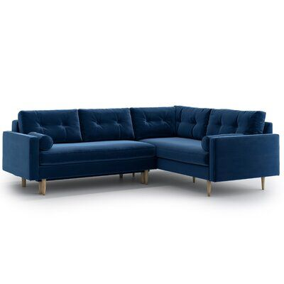 17 Stories Stclair Sleeper Corner Sofa Wayfair Co Uk In 2020 Corner Sofa Green Corner Sofas Blue Corner Sofas