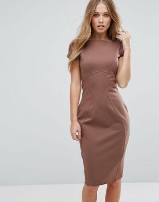 d45f096aa69 Closet London Pencil Dress With Ruched Cap Sleeve   Fall Wishlist ...