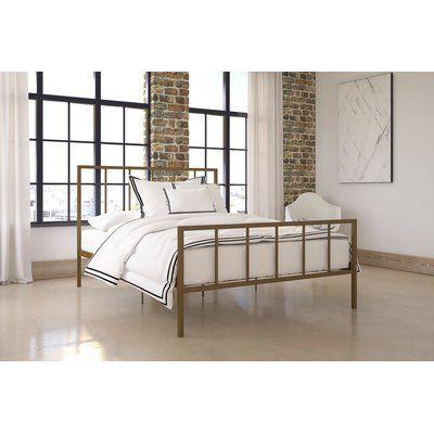 Jarvis Platform Bed Queen Metal Bed Metal Beds Metal Platform Bed