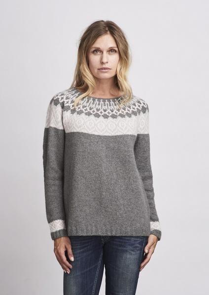 54f46dd4 Strikkeopskrift til Björk sweater, vores meget populære genfortolkning af  en islandsk sweater fra Yndlingsstrik 1