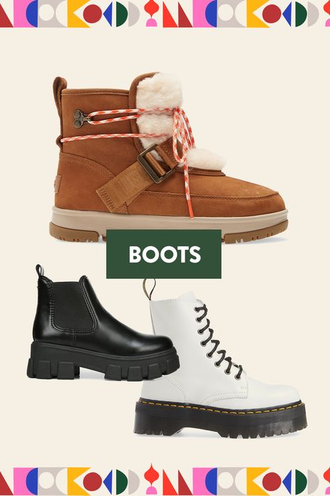 Our latest boot styles for the new season are here. From combat boots to rain boots and brands like Dr. Martens, Hunter, Sam Edelman and UGG, we have exactly what you are looking for  more!