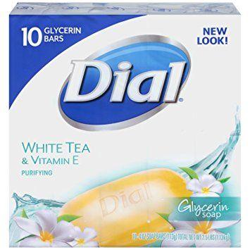 Dial Skin Care Bar Soap White Tea Vitamin E 4 Ounce 10 Bars White Tea Tea Soap Dial Bar Soap