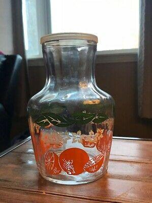Anchor Hocking Orange Juice Pitcher Carafe Decanter Vintage Ebay Juice Pitcher Carafe Pitcher