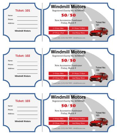 Annual-Raffle-with-Three-prizes RaffleTix Pinterest Custom - make your own tickets template
