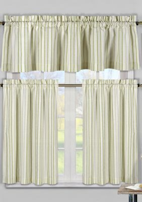 Duck River Textile Xandra Stripe Kitchen Curtain And Tier Set