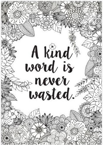 A Kind Word Colour Me Poster Quote Coloring Pages Christian