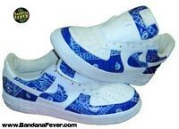 new style 2df86 73292 Blue Air Force Ones Blue Bandana