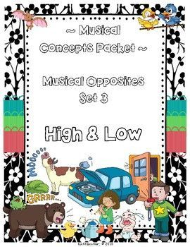 Musical Opposites Concepts Packet: Set 3-High vs  Low - PDF