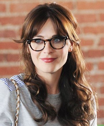 Long Bangs With Glasses Long Hair With Bangs Zooey Deschanel Hair Hairstyles With Glasses