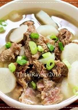 Sup Lobak Sapi Bening Simpel Ala Oma Makanan Lobak Masakan