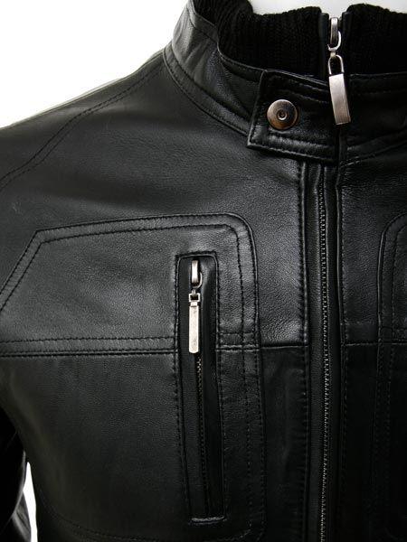 67cf4eee7 Men's Bomber Leather Jacket in Black: Bristol :: MEN :: Caine