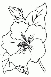 Royce S Hub Free Embroidery Pattern Hibiscus Flower Simple Flower Drawing Flower Drawing Hibiscus Flower Drawing