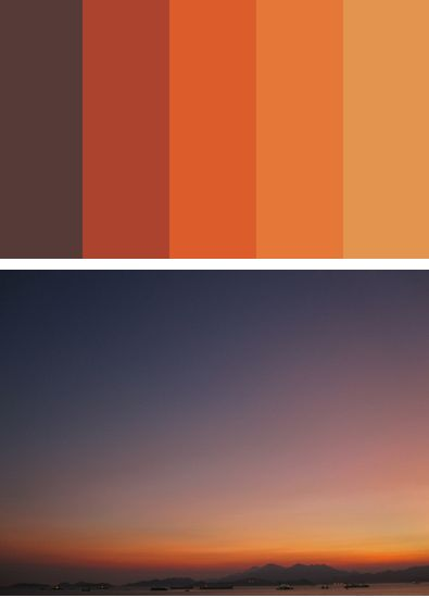 Sunset colors to be popular 2014-2015.