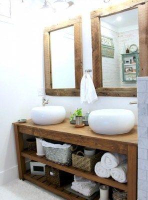 Mobile Specchio Da Bagno.Mobile Da Bagno In Legno Massello Kailey Completo Di 2 Specchi
