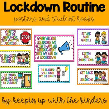 Lockdown Routines And Mini Books Are A Great Addition To Any Elementary Classroom You Can Review The Routin Mini Books Elementary Classroom Classroom Routines