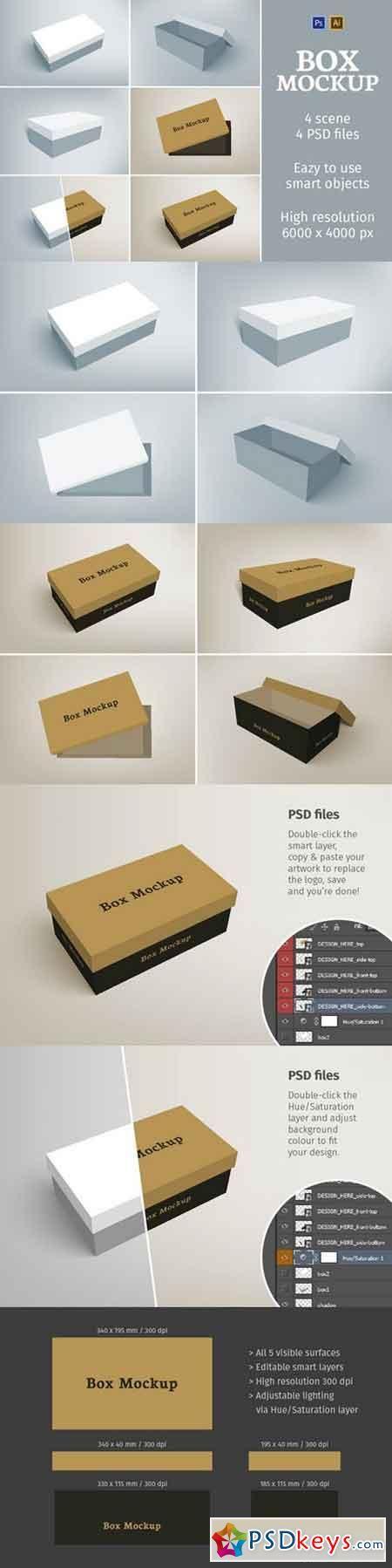 Download Shoes Packaging Box Mockup 658570 Box Mockup Box Packaging Mockup