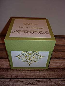 Geldgeschenk Explosionsbox Zur Hochzeit Amazon De Handmade Geldgeschenke Geschenke Einladungen