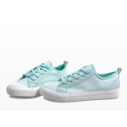 Blue Brocade Sneakers Bok 1138 Sneakers Trainers Women White Sneaker