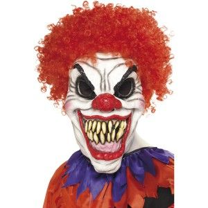 Masque De Clown Horrible Avec Cheveux Masque D Halloween