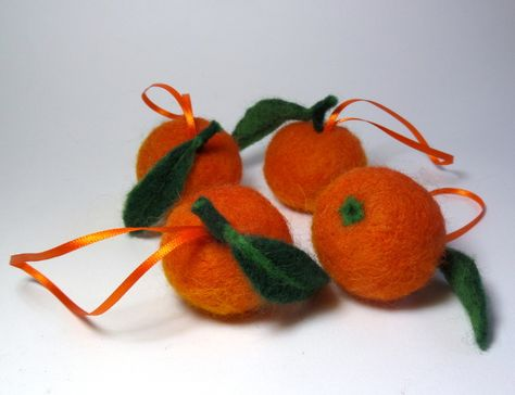 Clementine For Christmas.Clementines For Christmas Needle Felting Christmas