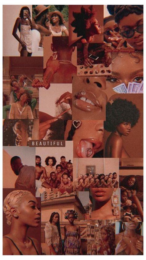 Black Aesthetic Wallpaper, Iphone Wallpaper Tumblr Aesthetic, Black Girl Aesthetic, Brown Aesthetic, Aesthetic Wallpapers, Black Girl Cartoon, Black Girl Art, Black Women Art, Art Girl