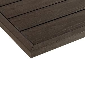 Newtechwood 1 12 Ft X 1 Ft Quick Deck Composite Deck Tile Outside Corner Fascia In Spanish Walnut 2 Pieces Box Us Qd Ot Zx Wn The Home Depot Deck Tile Composite Decking Deck