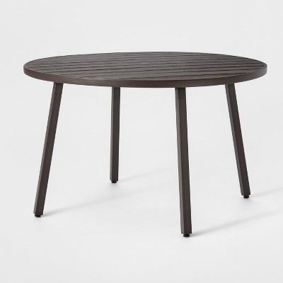 Monroe 4 Person Patio Dining Table Brown Threshold Products