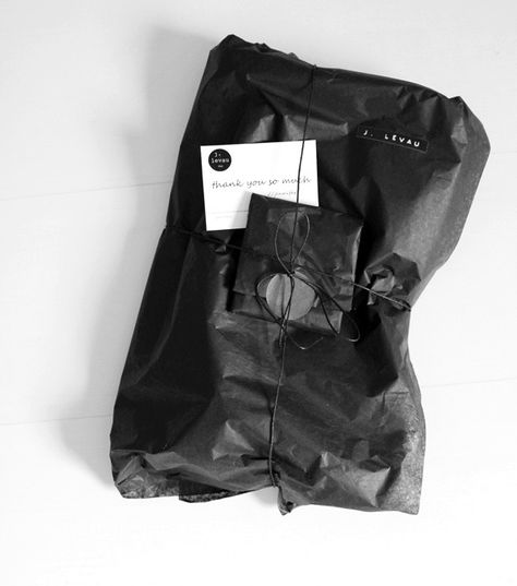 Black Tissue Wrapping Paper/via Remodelista