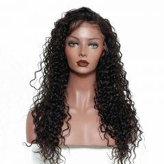 Beautiful 360 Lace Wigs Virgin Brazilian Hair Deep Wave Hair 100