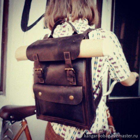 Кожаный рюкзак 002 черного цвета – купить в интернет-магазине на Ярмарке  Мастеров с доставкой 16b20a355dd