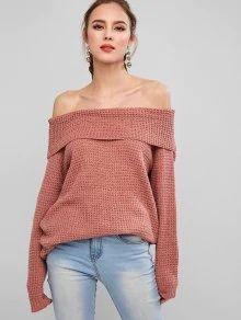 Check out Solid Pullover Off Shoulder Overlay Sweater - Pink from Zaful!  #FallWinterOutfitsCasual #FallWinterOutfits2019  #ZafulOutfits #ZafulTops #ZafulClothes #ZafulWinter #ZafulOnlineShopping #ZafulFall #ZafulTrendy #ZafulFashion #OutfitIdeasForWinter #OutfitIdeasCasual