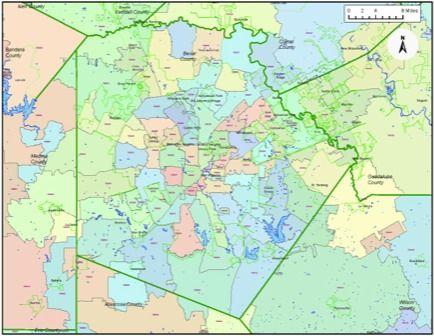 600 dpi Bexar County Zip Codes | Zip code map, Coding, Leon ...
