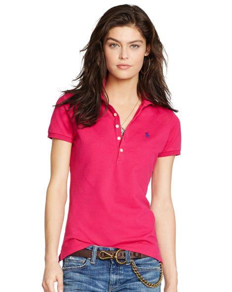 a726be267 Polo Ralph Lauren Short-Sleeve Polo Shirt & Reviews - Tops - Women - Macy's