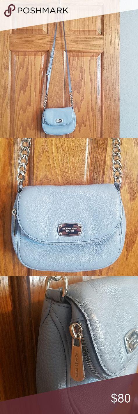 62a2bf8c4121 Michael Kors Crossbody bag, lt. Blue This Crossbody bag is the Bedford flap  in