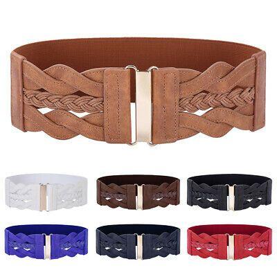 Women/'s Ladies Wide Hip Elastic High Stretchy Corset Cinch Waistband Waist Belt