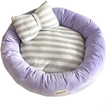 Round Dog S Bed Dog S Bed Very Soft Dog Bed Removable Cover For Animal Couch Fully Washable Detachable Purple Washable Dog Bed Round Dog Bed Soft Dog Beds