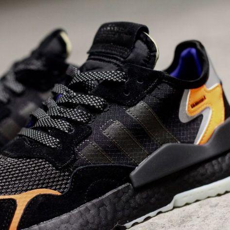 7a286d68585cd9 Adidas Nite Jogger Noir Orange in 2019