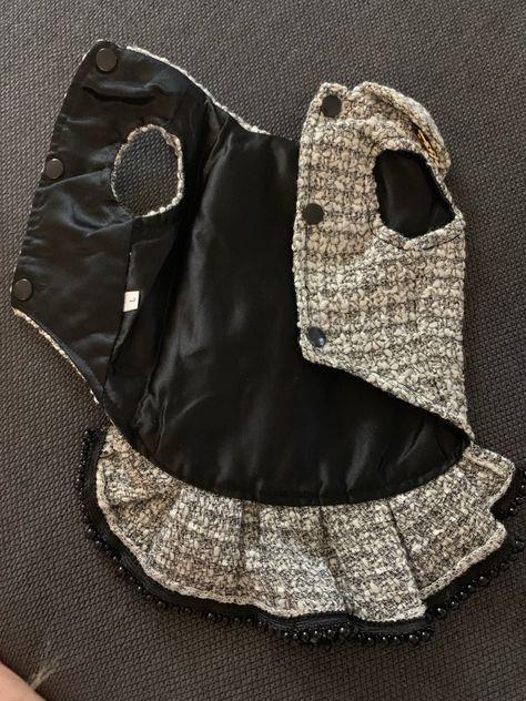 Frete grátis feitas à mão a roupa do cão estilo C tweed cinza imitação de couro de crocodilo do vintage saco cão vestidos de inverno primavera outono Loja Online | aliexpress móvel