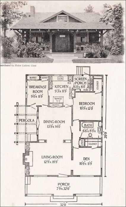 48 Ideas House Plans 1200 Sq Ft Craftsman Bungalow House Design Vintage House Plans Bungalow House Plans