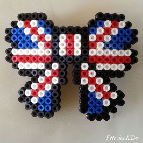 Uk Flag Kandi Pattern Flag Beads Beading Patterns Perler Bead Patterns