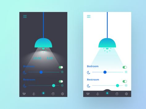 Smart Light UI App Design