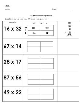 22++ Area model worksheets Ideas In This Year