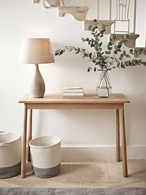 Bergen Oak Console Table Natural Deco Entree Maison Deco